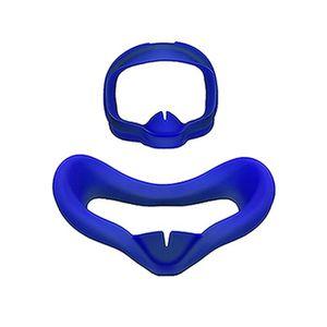 CASQUE RÉALITÉ VIRTUELLE Bleu Masque doux pour les yeux anti-sueur en silic