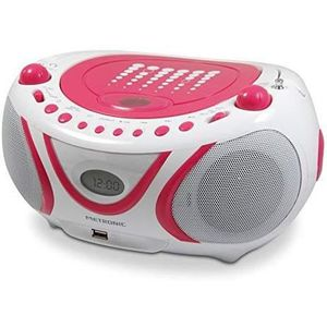 RADIO CD CASSETTE 477109 Radio - Lecteur CD - MP3 Portable Pop Pink