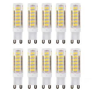 AMPOULE - LED Ampoule LED 10x G9 5W équivalent à 40W Blanc Chaud