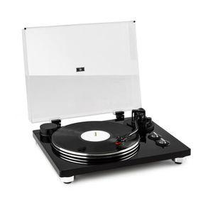 PLATINE VINYLE auna Pure Precision Platine vinyle tourne disque a