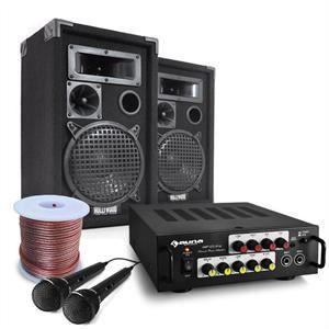 AMPLIFICATEUR HIFI Pack Sono DJ Complet ampli + 2 enceintes + micros