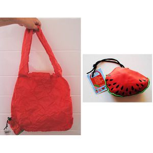 SAC SHOPPING PLIABLE PASTEQUE ROUGE SAC DE COURSE