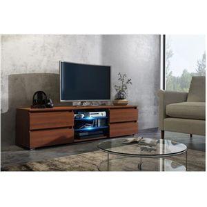 MEUBLE TV Meuble tv 150 cm couleur MDF noyer