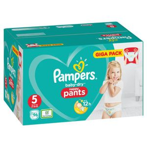 COUCHE  Pampers Baby Dry Pants Taille 5 Junior 12-17 kg G