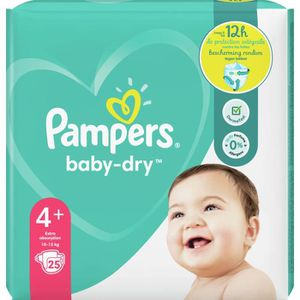 COUCHE Pampers Baby-Dry Taille4+, 25Couches