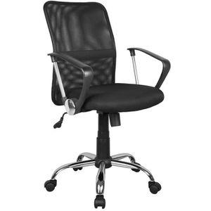 CHAISE DE BUREAU Chaise de bureau en maille et tissu noir - Dim : L