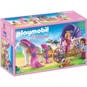 UNIVERS MINIATURE PLAYMOBIL 6856 - Princess - Calèche Royale avec Ch