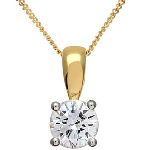 SAUTOIR ET COLLIER Revoni - Collier pendentif en or jaune 18 carats e