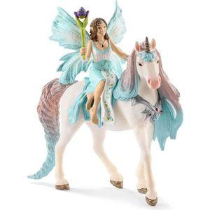 FIGURINE - PERSONNAGE SCHLEICH - Figurine 70569 Fée Eyela avec licorne d