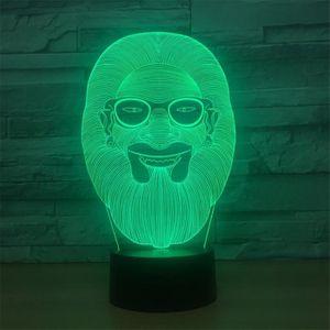 LAMPE A POSER Alimenté par USB Barbe Homme 3D tactile Optique IL