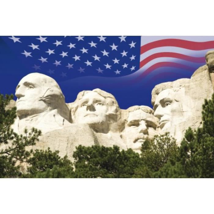 Usa papier peint photo poster autocollant mou achat for Decoration murale usa