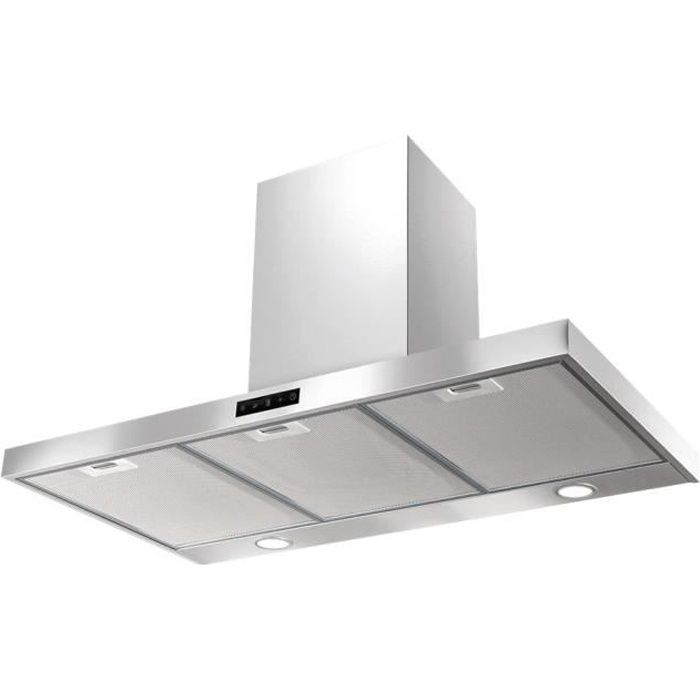 Airlux AHBF970IX Hotte hotte décorative largeur : 90 cm profondeur : 48 cm evacuation & recyclage acier inoxydable