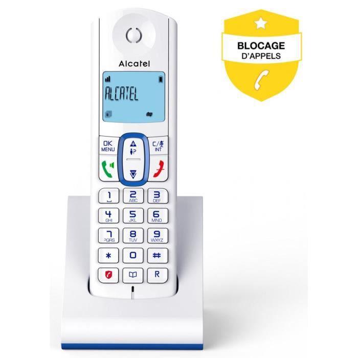Téléphone Sans Fil Alcatel F 630 Bleu