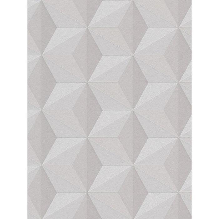 Papier peint géométrique Taupe - CRÉATION 96255-1