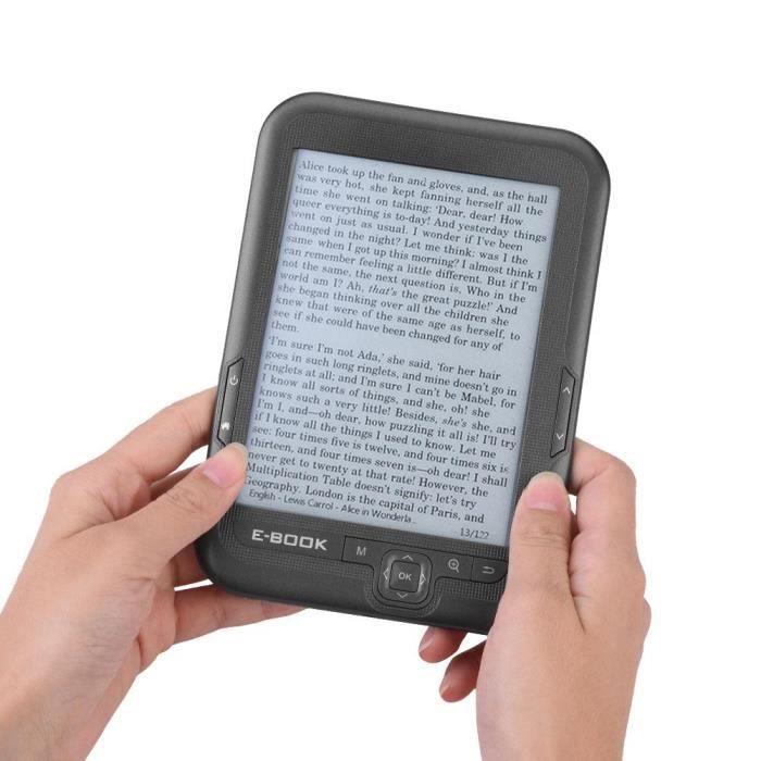 E Book Reader E Ink E lecteur 6 pouces Ecran Résolution 800x600 Résolution 300Dpi Couvercle Bleu (Gris 8G)