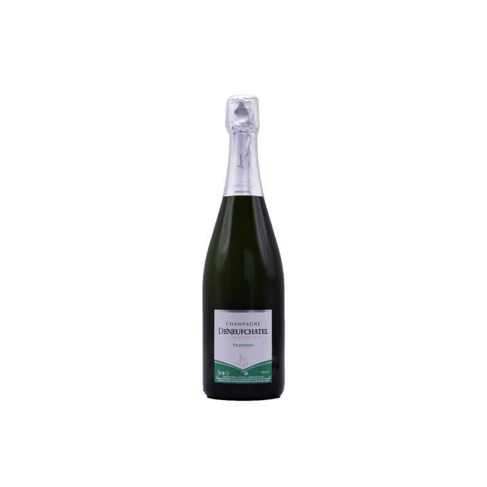 6 bouteilles CHAMPAGNE BRUT TRADITION 75CL Maison DENEUFCHATEL