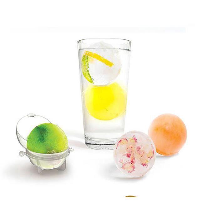 Moules ronds de sphère de fabricant de boule de glaçon pour des cocktails de fête de whisky ensemble de 4 cadeaux CNN70421434A_291