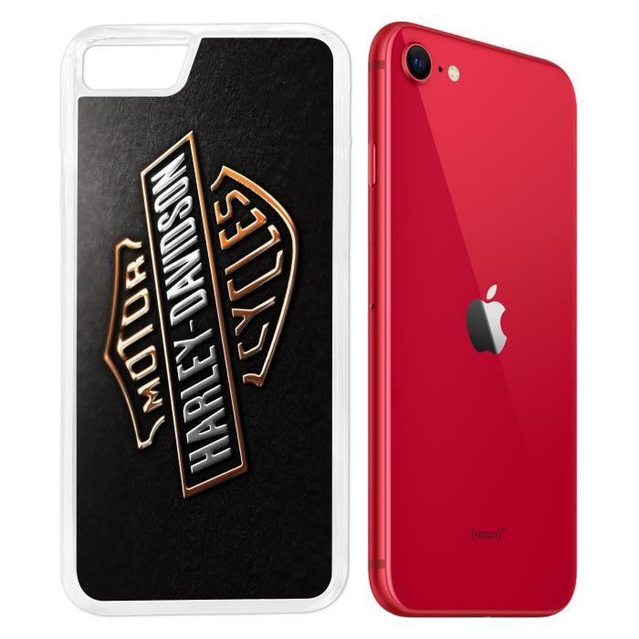 Coque iPhone SE 2020 - Harley Davidson Logo. Accessoire telephone