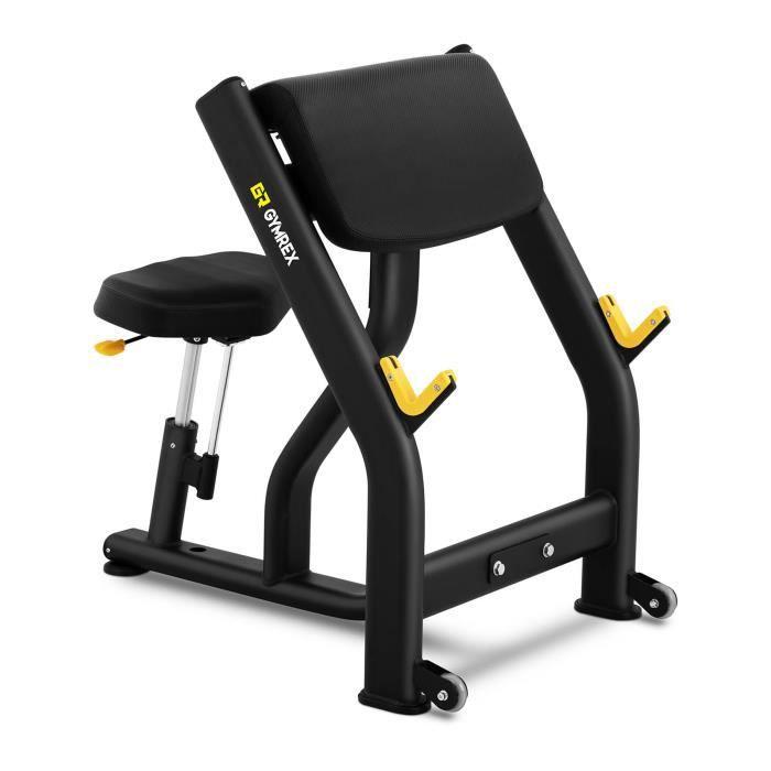 Pupitre À Biceps Poste Isolé Biceps Banc De Musculation Siège Réglable Fitness