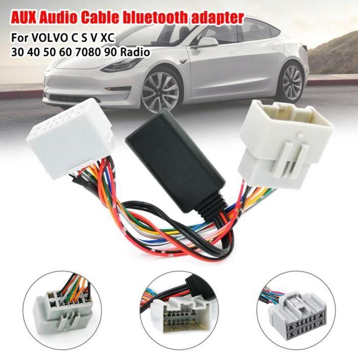 Voiture Récepteur Audio AUX IN Adaptateur Bluetooth pour Volvo C30 C70 S40 S60 S70 S80 V40 V50 V70 XC70 XC90 Récepteur - Type ABS