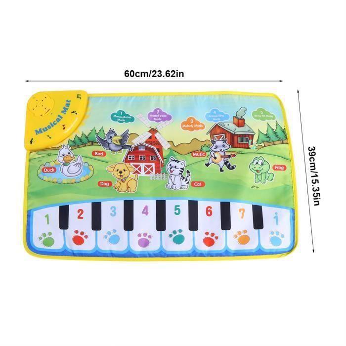 Tapis de jeu de musique pour bébé Tapis Bébé Musique Enfants Ramper Piano Tapis Multifonctionnel Bébé Musique Couverture Motif