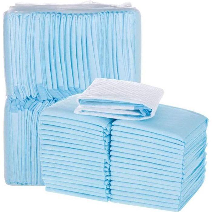 100 Tapis Éducateurs pour Chiots Chat - Apprentissage de La propreté. Tapis Absorant Couche Inférieure Imperméable, Standard 33x45cm