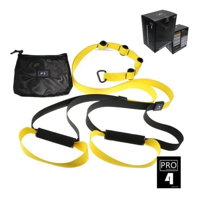 Elastique de Résistance Musculation Fitness Pro 4 Jaune LBQ23