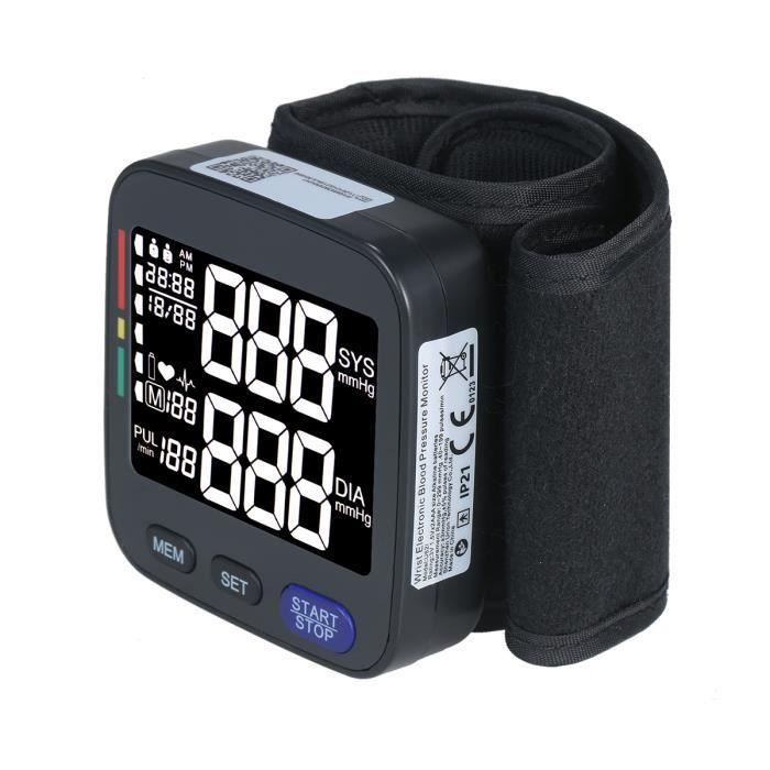 Tensiomètre automatique au poignet avec grand brassard Compteur de tension de machine à impulsions d'enregistrement de données