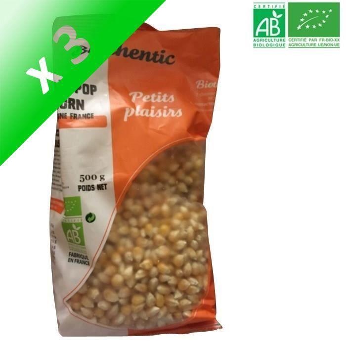 [LOT DE 3] Maïs pop corn - Bio - 500g