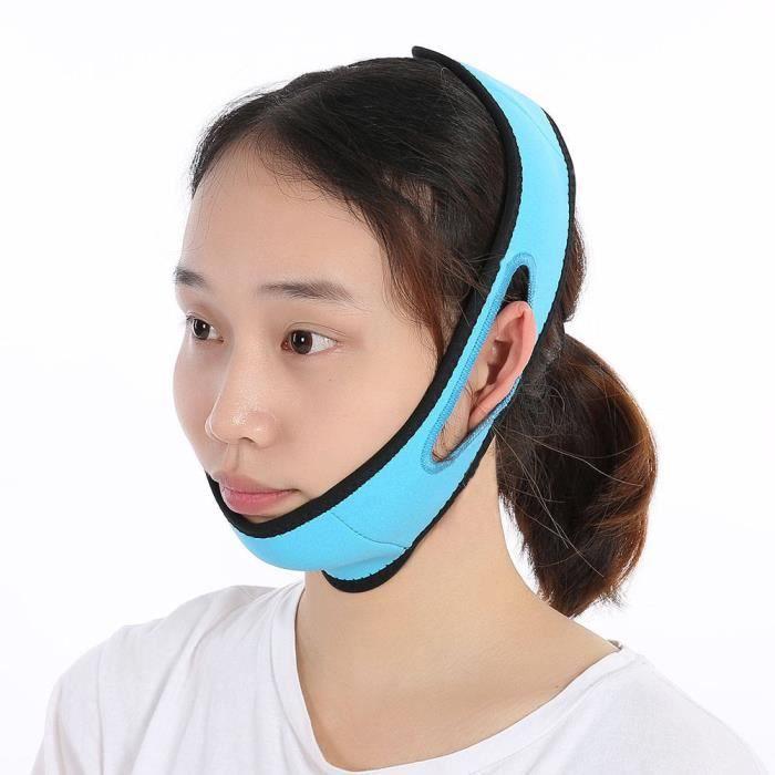 EBTOOLS ceinture de levage pour le visage Masque amincissant pour le visage Massage en silicone Bandage mince Double menton Retirer