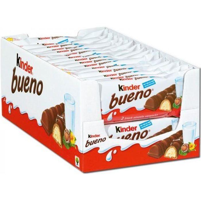 Ferrero Kinder Bueno, bars, chocolat, 30 pièces
