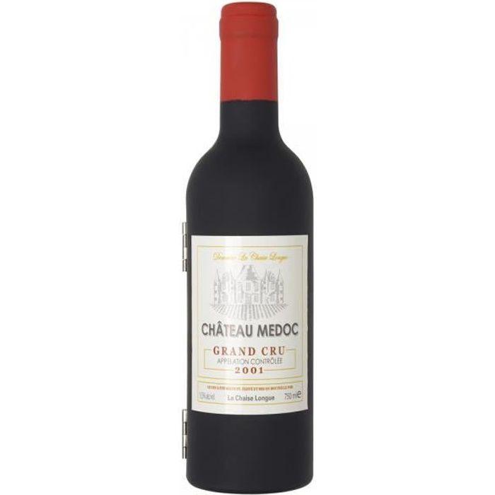 La Chaise Longue 33-2K-001P Coffret sommelier Bouteille de vin PM 3 accessoires vin Limonadier Bouchon verseur Collier anti-goutte D