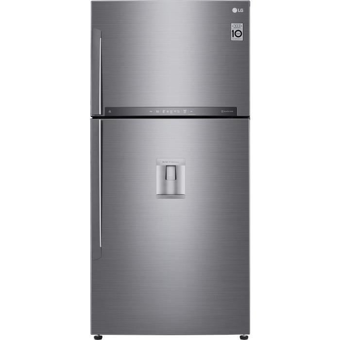 LG GTF8659PS - Réfrigérateur congélateur haut - 592L (418+174) - Froid ventilé - A++ - L86m x H184cm - Inox