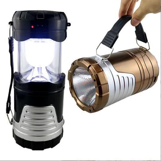 Rechargeable Camping Portable Lumière, DC et Led solaire de charge Lanternes en plein air avec à piles pour le camping, randonnée...