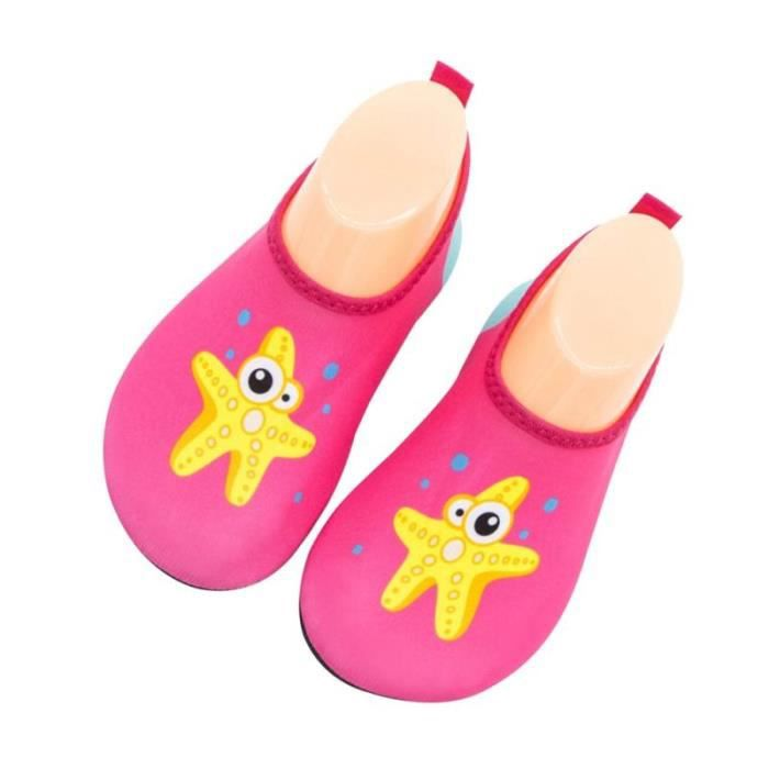 Girls Sea Star Series Non-Slip Swim Water Shoes Infant Pool Beach Barefoot CHAUSSURES DE RUNNING - CHAUSSURES D'ATHLETISME