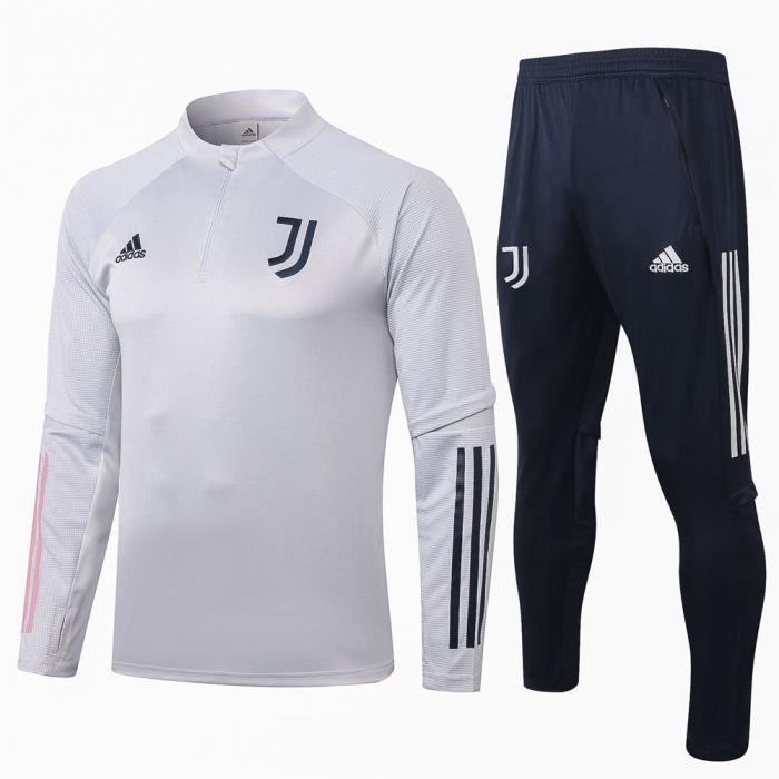 Survêtements Juventus 2021 Adidas Maillot Homme Enfants Maillot de Football Nouveau - Gris