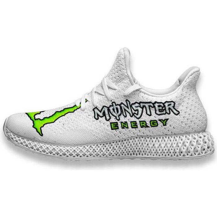 Baskets Monster Energy Logo Chaussures de course pour Homme Femme