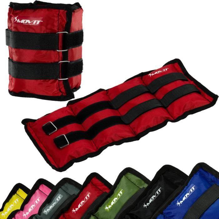 MOVIT Poids de cheville et de poignet rouge 4 kg (2 x 2 kg) - 1 paire