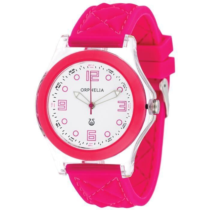 Orphelia - OR22172817 - Montre Femme - Quartz Analogique - Bracelet Silicone rose