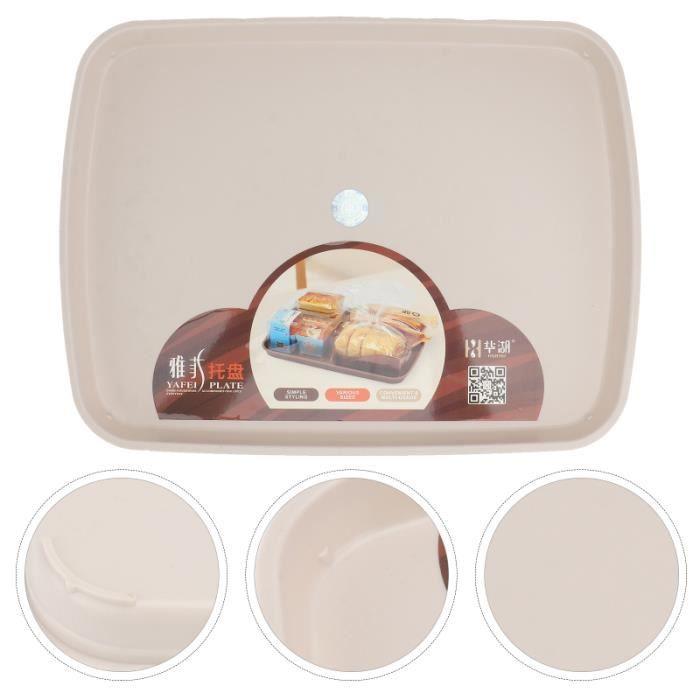 1pc maison Dessert plateau de fruits en plaque de service rectangulaire de plateau - plat de service service de table