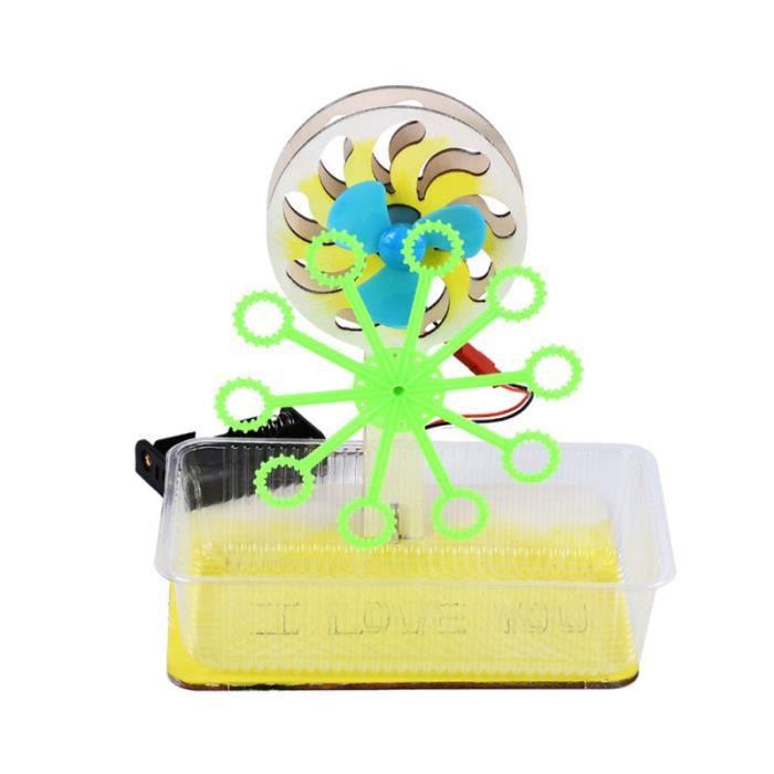 1pc machine de soufflage à bulles modèle d'assemblage manuel créatif de souffleur à pour enfants étudiants GAUFRIER