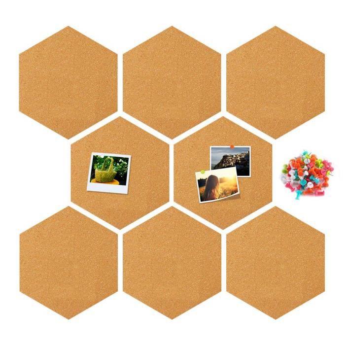 Panneau de Liège hexagonal Mural Décoration pour photos,notes,objectifs,dessin création avec Punaises Tableau d'Affichage Murs Décor