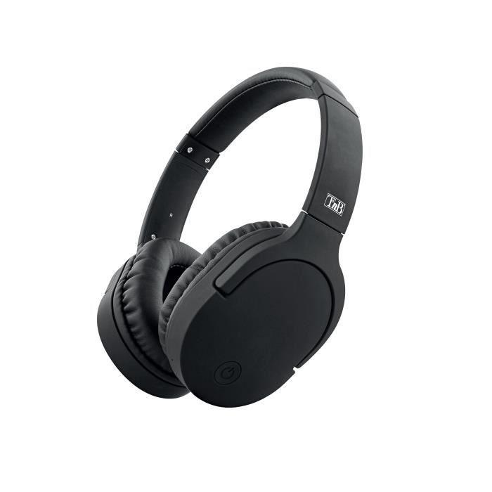 T'nB - CBTRAVEL2 - Casque Bluetooth collection TRAVEL + micro + adaptateur avion - Noir -