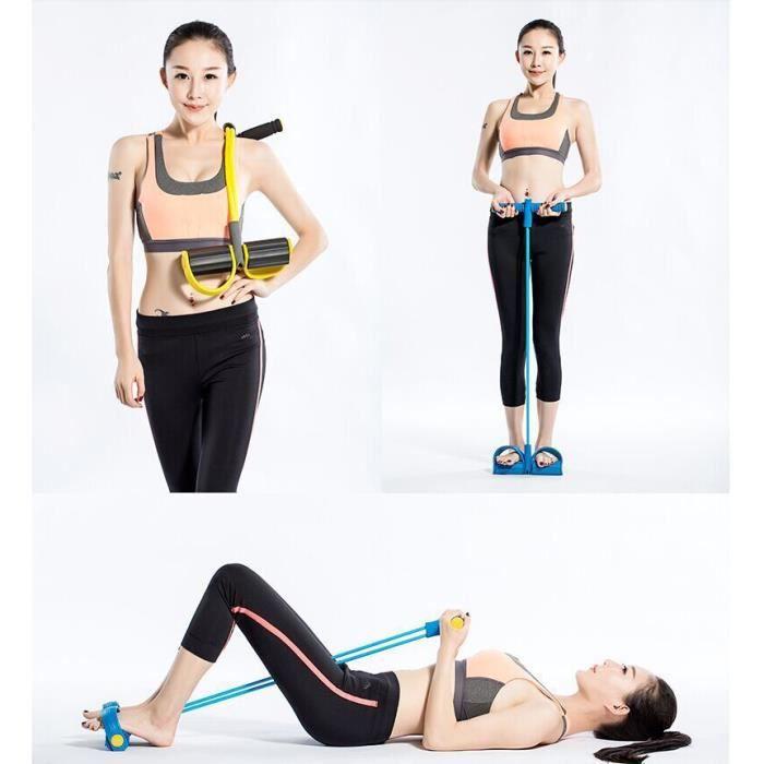 Bandes de résistance à la jambe au latex Yoga de 11 pièces Ensembles de
