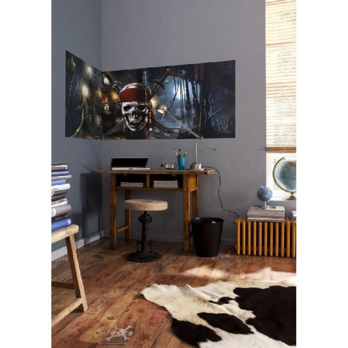 tapisserie murale du film pirates des caraibes 1 panneau coller 73 x 202 cm achat. Black Bedroom Furniture Sets. Home Design Ideas