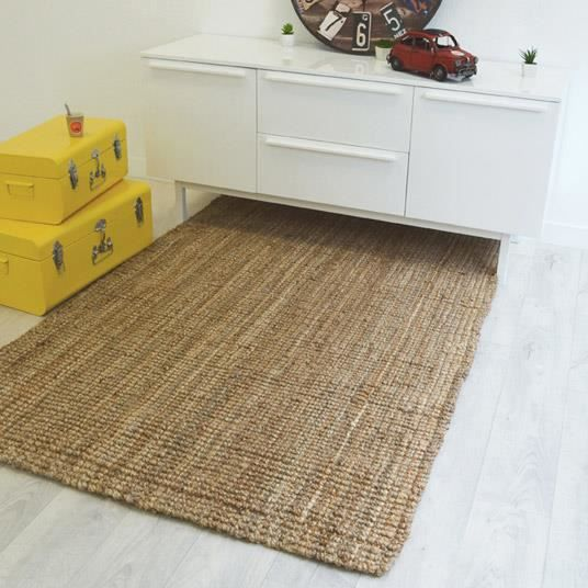 tapis naturel boh me 100 jute 200x290cm achat vente tapis cdiscount. Black Bedroom Furniture Sets. Home Design Ideas