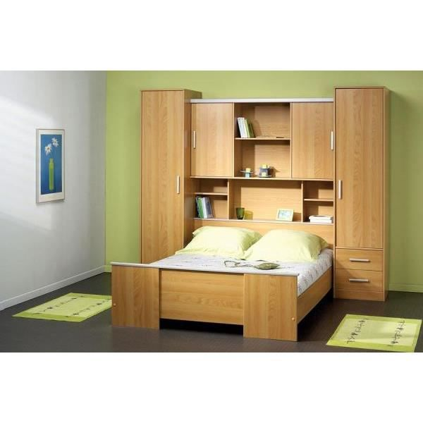 ensemble lit environement achat vente lit complet chambre pont cdiscount. Black Bedroom Furniture Sets. Home Design Ideas