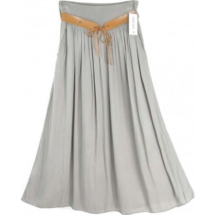 JUPE Jupe longue évasée  Camilla - couleur : beige - Ta
