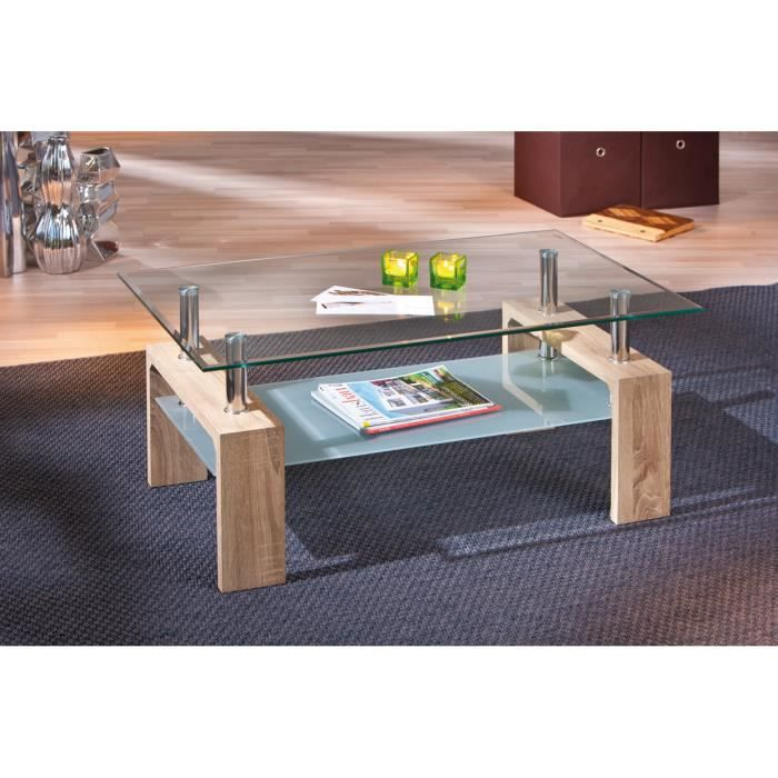 table basse en bois avec plateau en verre achat vente table basse table basse en bois avec. Black Bedroom Furniture Sets. Home Design Ideas