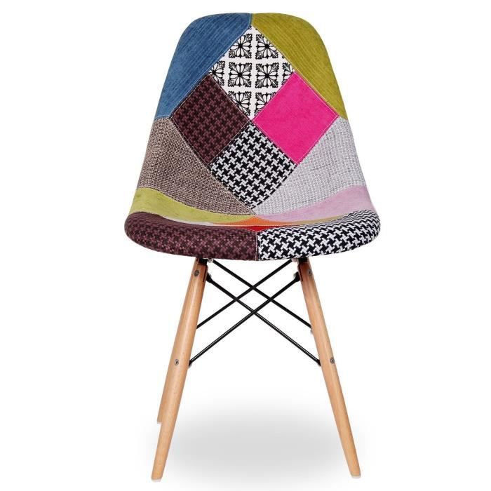 chaise chaise eames dsw style patchwork patchwork - Chaise Patchwork Eames
